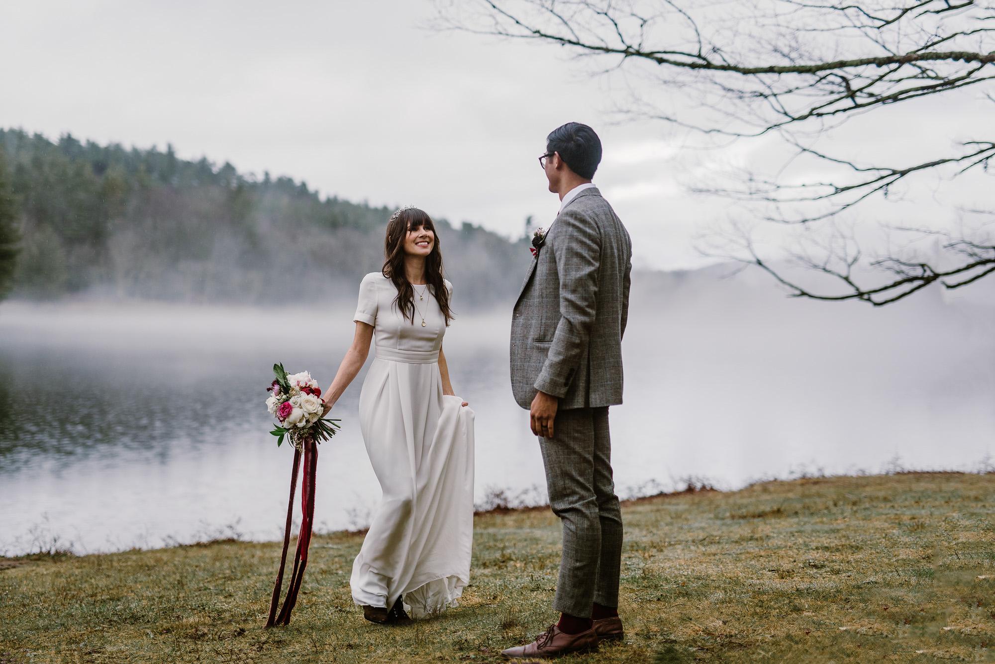Mountain Lake Boho Chic Wedding