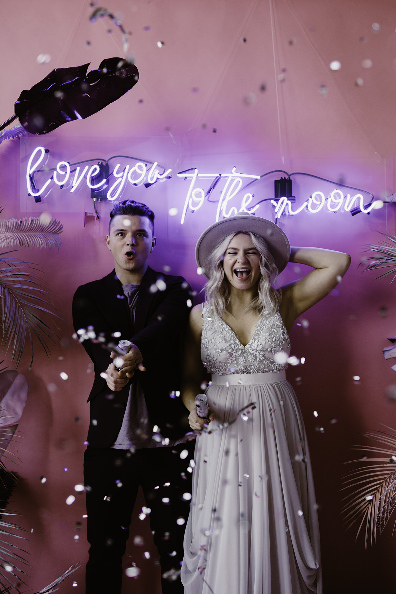 Bride and Groom Neon Sign