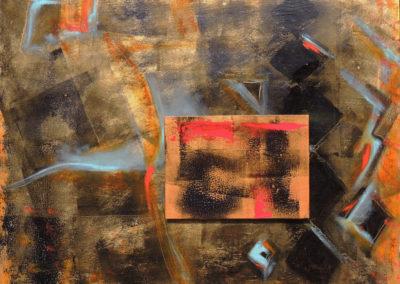 Night Kite   oil on wood   16x20