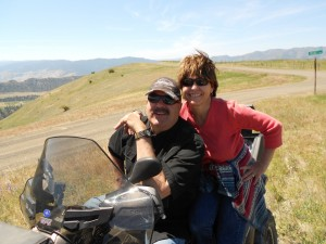 ATV Ride with John and Cindy to Dairy Mountain and back down to Will and Gail Williams July 4th Party.
