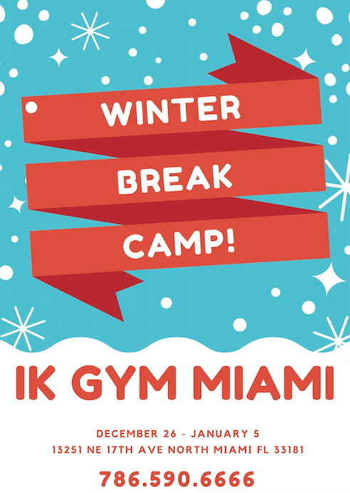 Winter camp Miami, kids gym Miami, miami gymnastics, gymnaastics Miami