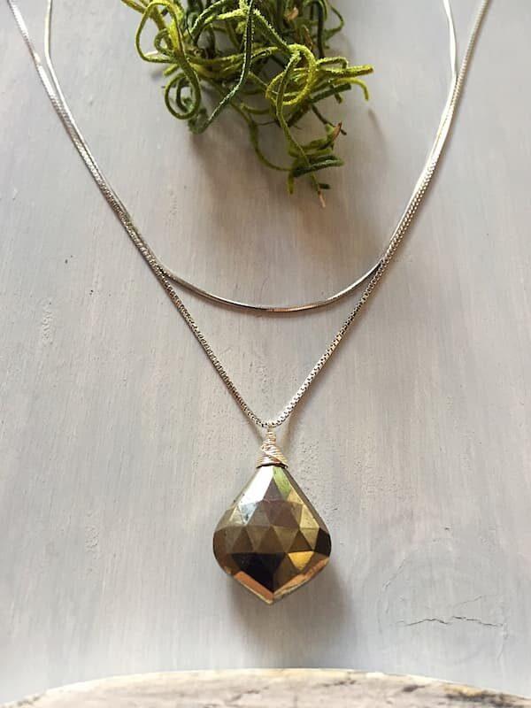 Collar Pirita, Brioletta joyería artesanal con gemas