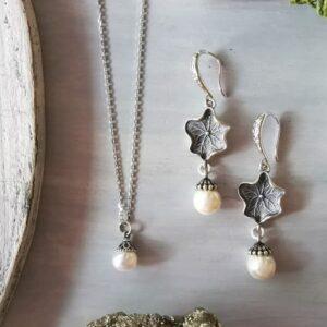 conjunto perla y loto