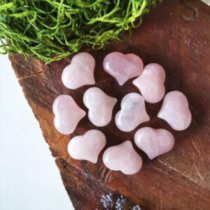 corazones cuarzo rosa