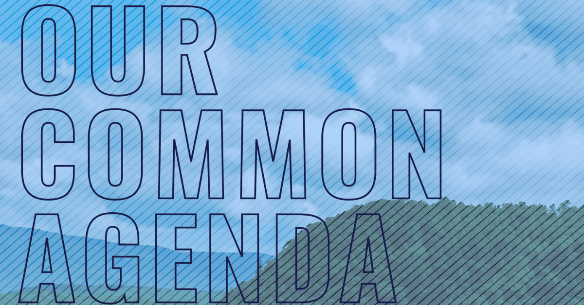 Cover page from Our Common Agenda