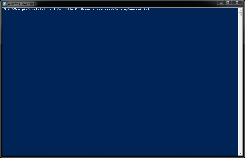 Microsoft Windows PowerShell - Save Output Directly to a Text File - 00