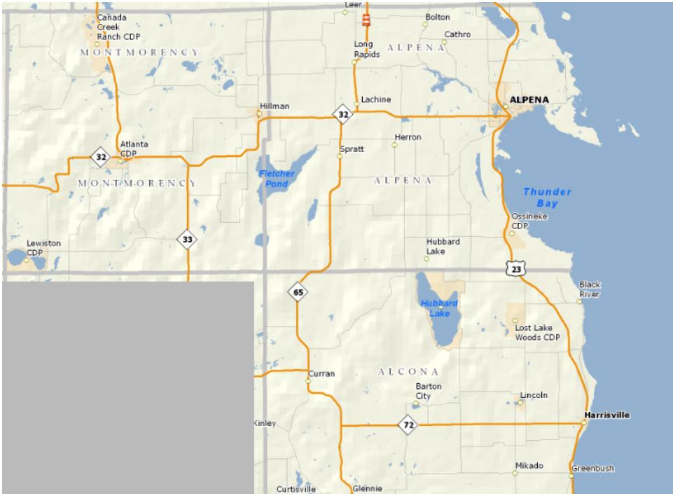 TBTA Area Counties Map