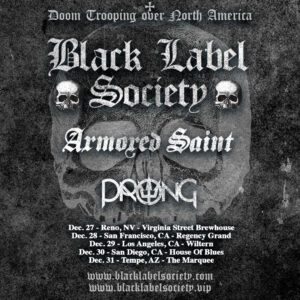 Black Label Society Announce More Dates w. Armored Saint