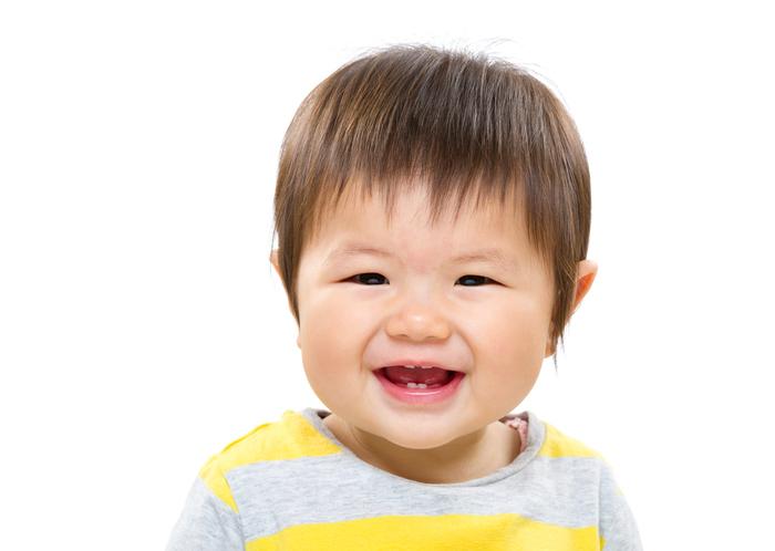 Portrait of Asian toddler