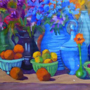 "Kaffe's Jumble with Flowers - 12"" x 16"""
