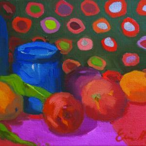 Still Life with Polka Dot Cloth II by Erin Lee Gafill