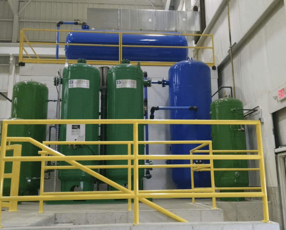 Blue and Green Compressors Indianapolis