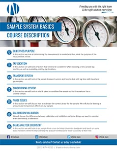 Triad Control Systems Sample Systems Basics Course Description
