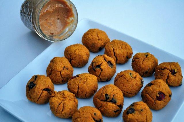 Pumpkin Cranberry Cookie Dough Bean Balls