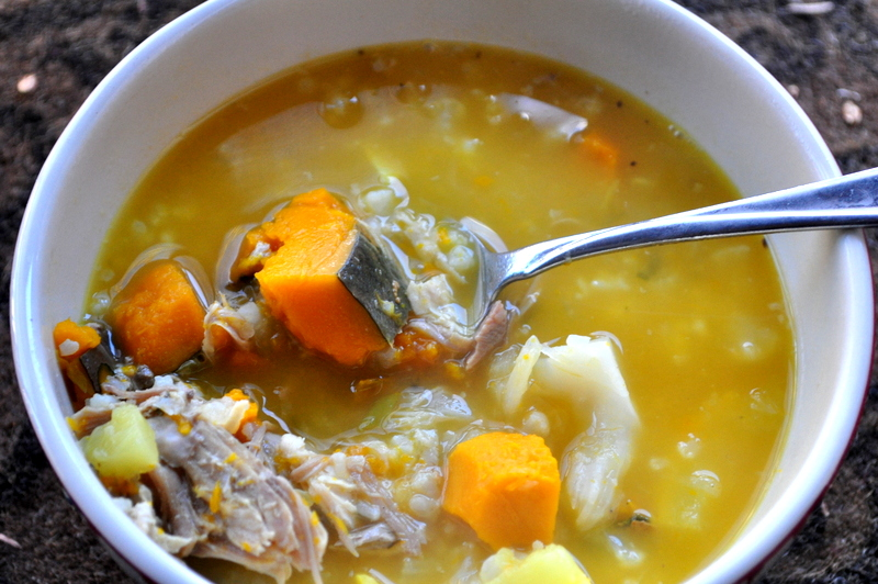 Easy Paleo Kabocha Chicken Soup