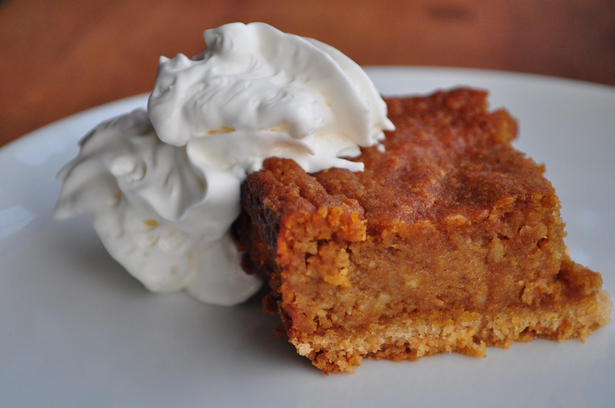 Spiced Paleo Pumpkin Pie Bars