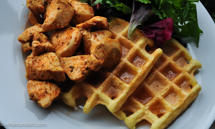 Healthy Paleo Smoked Paprika Chicken and Waffles