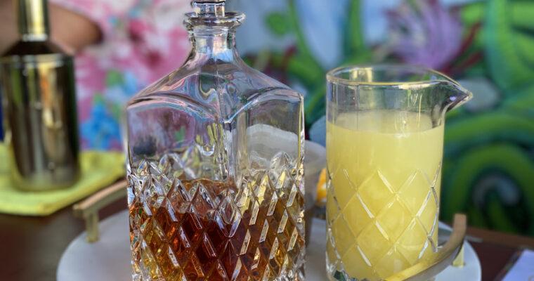 Bourbon + Lemon: The Gold Rush Cocktail & Lemon Blackberry Bars
