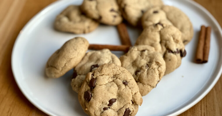 Chai Spiced Chocolate Chip Cookies