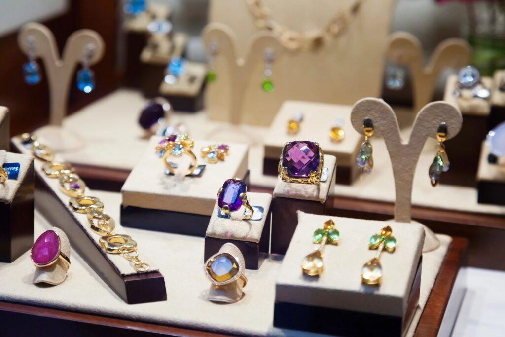 Jewelry in case