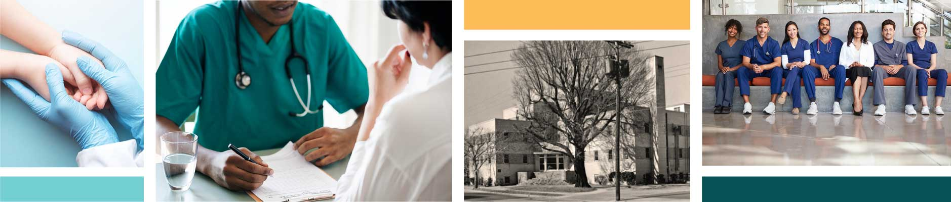photo collage of healthcare providers and patients