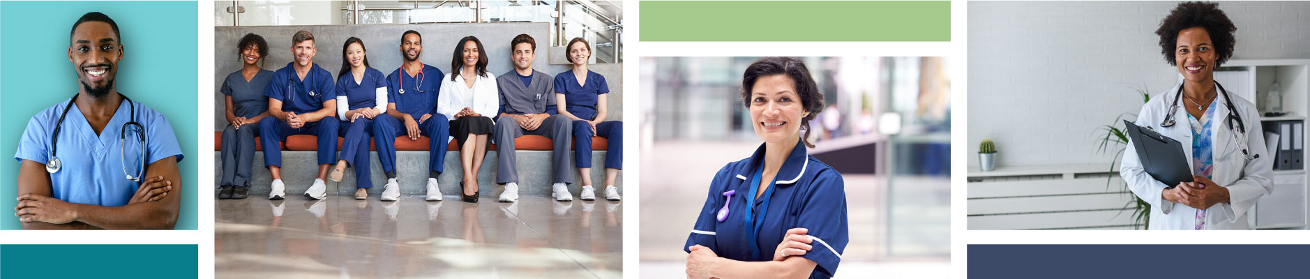 photo collage of doctors and nurses