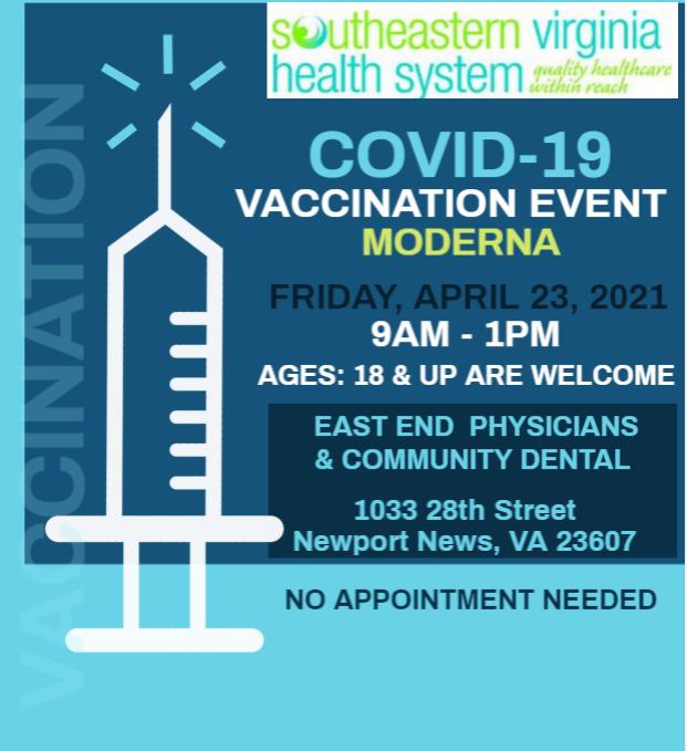 Covid vaccine event flyer