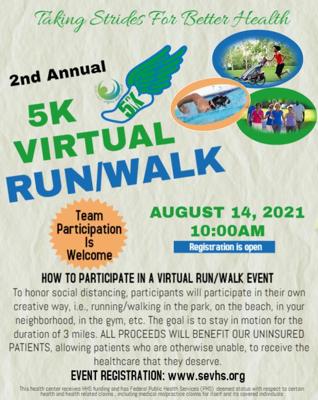 5K Run/Walk 2021 flyer