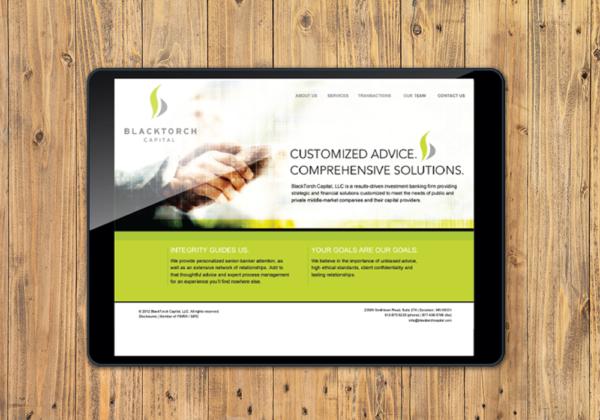 Blacktorch Capital logo, stationery, business card, website
