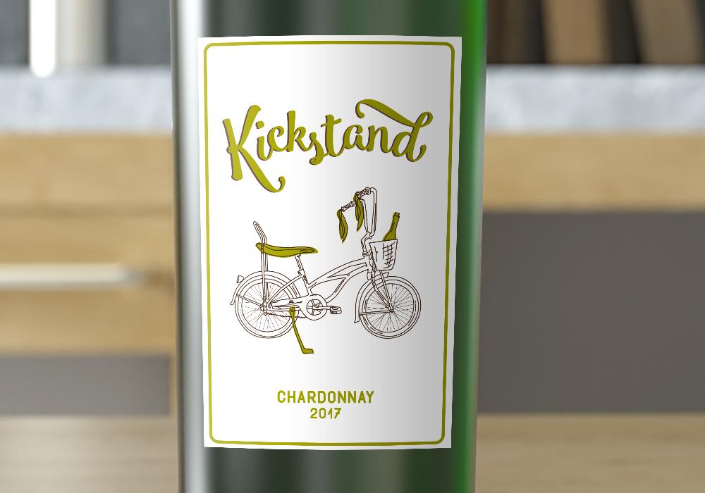 chard closeup bottle