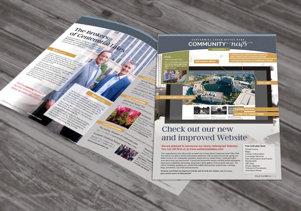 newsletter spread