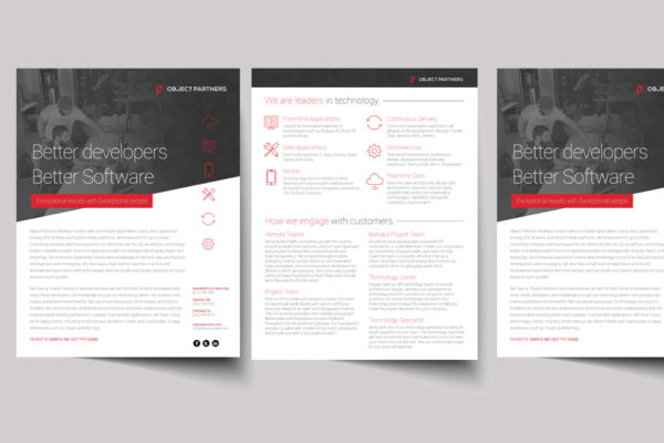Object Partners print collateral
