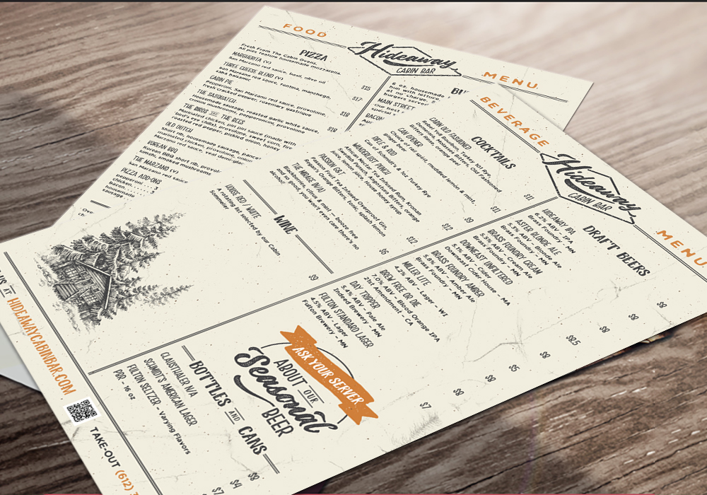 Hideaway menus