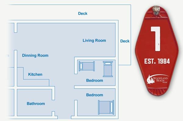 Cabin 1 Floor Plan