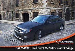 Brushed black metallic colour change