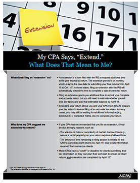 tax extension faqs cover image