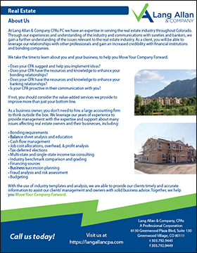 Lang Allan & Company Real Estate Brochure Cover