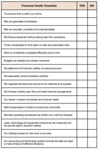 Financial Health Checklist