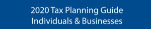 2020 tax planning guide banner