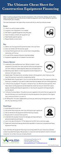 Equipment Financing Infographic download version
