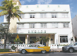 Miami Beach, the location of vintage hotels like The Avalon on Ocean Drive, passed a local ordinance raising the minimum wage in the city. (ELLEN CREAGER/DETROIT FREE PRESS/TNS)