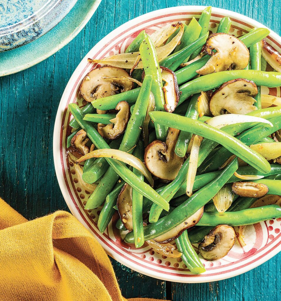 Green Beans with Mushroom and Onions