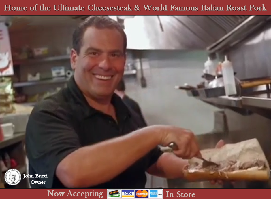 John's Roast Port Home of The Ultimate Philly Cheesesteak and World Famous Italian Roast Pork.