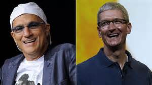 Jimmy Iovine and Tim Cook - separated at birth?