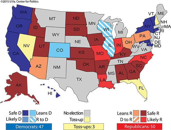 Larry Sabato's crystal ball is a challenge to Democrats.