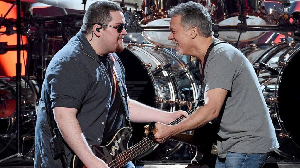 Wolfgang and Eddie Van Halen in 2015.