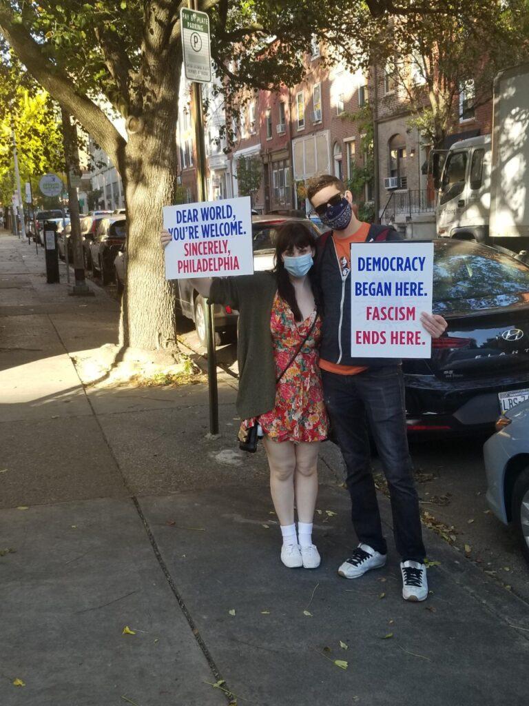 Signs were everywhere in philadelphia on Saturday, Nov. 7.
