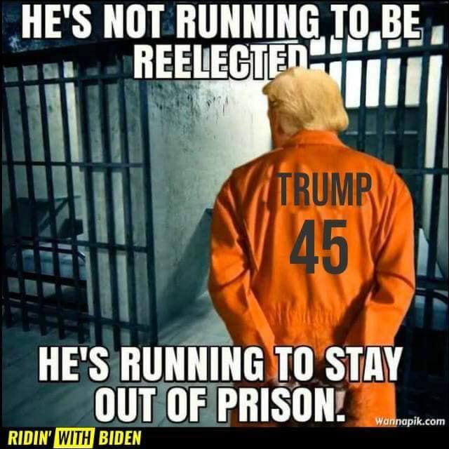 Trump prison meme.