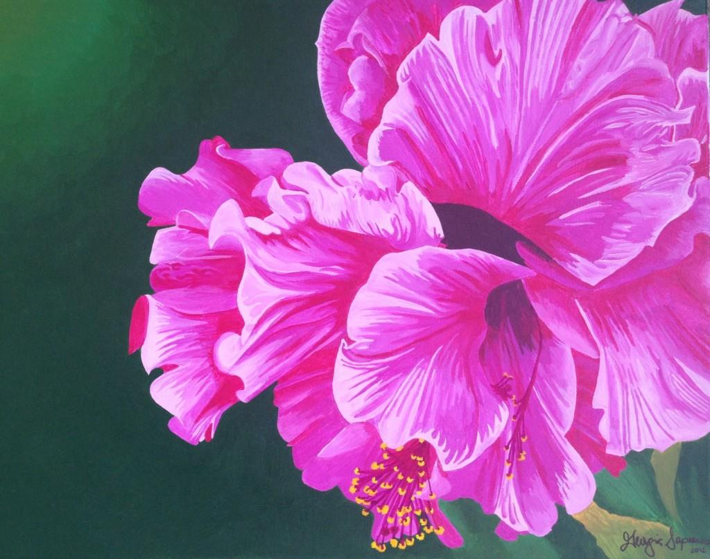 georgiasapounas_hibiscusflower_painting