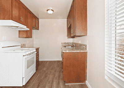 Kitchen area inside the heights with white appliances